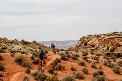 Moab weg vom Straßenradfahren Lizenzfreies Stockbild