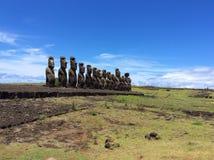 Moai雕象,复活节岛 库存图片