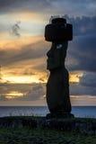 Moai雕象,复活节岛,智利 库存照片