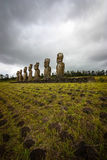 moai νησιών Πάσχας στοκ φωτογραφία