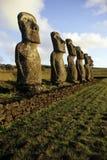moai νησιών της Χιλής Πάσχα στοκ φωτογραφία με δικαίωμα ελεύθερης χρήσης