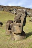 Moai στο νησί Πάσχας Στοκ φωτογραφία με δικαίωμα ελεύθερης χρήσης