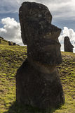Moai на острове пасхи, Чили Стоковая Фотография