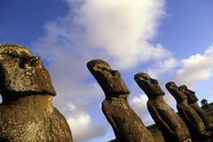 moai острова Чили пасхи стоковое фото