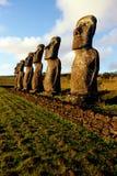 moai острова Чили пасхи Стоковая Фотография RF