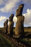 moai острова Чили пасхи Стоковые Фотографии RF