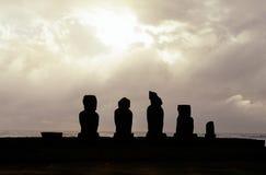 moai острова Чили пасхи стоковое фото rf