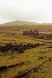moai острова Чили пасхи стоковое изображение rf