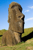 Moai. A moai at Rapa Nui, Easter Island. Chile Stock Image