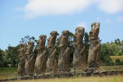 Moai stock photography