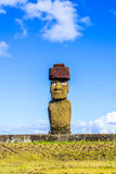 Moai at Ahu Ko Te Riku. In Tahat Archeological Complex, Easter Island, Chile Stock Image