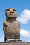Moai in Ahu Tongariki (Easter island, Chile) Royalty Free Stock Photos