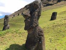 Moai auf Osterinsel, Chile lizenzfreie stockbilder