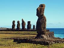 Moai av Ahu Tahai Royaltyfri Foto