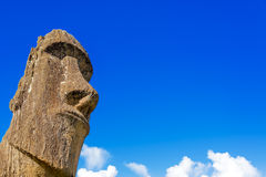 Moai and Blue Sky Royalty Free Stock Photos