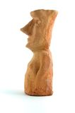 Moai clay model. Isolated on the white Royalty Free Stock Photos