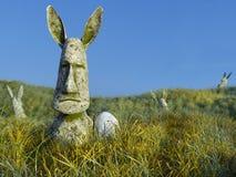 Moai com tema do feriado da P?scoa das orelhas ilustração stock