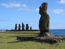 Moai dans Hangaroa Image stock