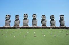 Moai de la isla de pascua Japón foto de archivo