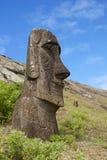 Moai de sourire sur l'île de Pâques Image libre de droits