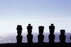 moai dell'isola del Cile pasqua Immagini Stock Libere da Diritti