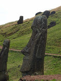 Moai on Easter Island Royalty Free Stock Photography
