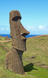 Moai on Easter Island Stock Images