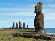 Moai on Easter Island Royalty Free Stock Photos