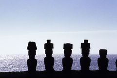 Free Moai- Easter Island, Chile Royalty Free Stock Images - 12478739