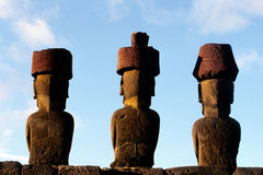 Moai- Easter Island, Chile Stock Photo