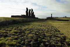 Moai- Easter Island, Chile Stock Photos