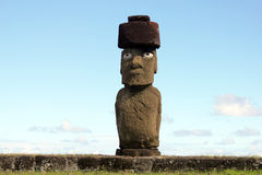 Moai at  Easter Island Royalty Free Stock Images
