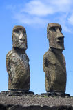 Moai in Easter Island, Chile Royalty Free Stock Photo