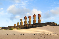 Moai in Easter Island, Chile Royalty Free Stock Image
