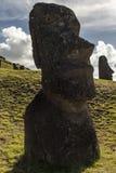 Moai on easter island,Chile royalty free stock photo