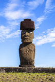 MOAI IN EASTER ISLAND, CHILE Royalty Free Stock Photography