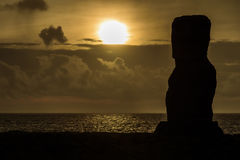 Moai on easter island,Chile Royalty Free Stock Photography