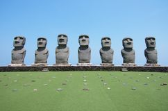 Moai of Easter Island Japan stock photo