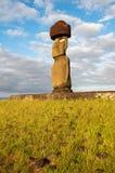 Moai em Tahai, console de Easter (o Chile) Imagens de Stock Royalty Free