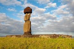 Moai em Tahai, console de Easter (o Chile) Imagem de Stock Royalty Free