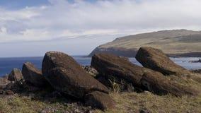 Moai en la isla de pascua Foto de archivo