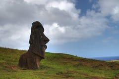 Moai en la isla de pascua Fotos de archivo libres de regalías