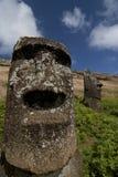 Moai en la isla de pascua Imagen de archivo
