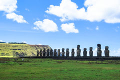 MOAI EN LA ISLA DE PASCUA, CHILE Fotos de archivo libres de regalías