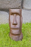 Moai head statue. Royalty Free Stock Photos