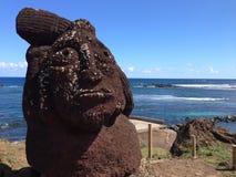 Moai i Hanga Roa arkivfoton