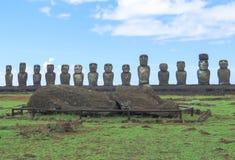 MOAI I PÅSKÖN, CHILE Royaltyfri Bild