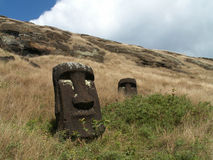 Moai-Köpfe stockfotos