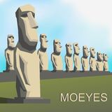Moai (Moeye) Photos stock