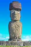 Moai - Monolithic human statues (Chile) Royalty Free Stock Photo